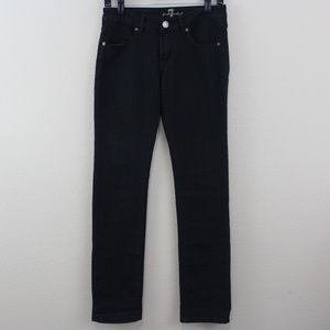 7 For All Mankind 7FAM Black Denim Jeans Size 28